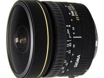 Sigma 8mm F3.5 EX DG Fisheye voor Canon