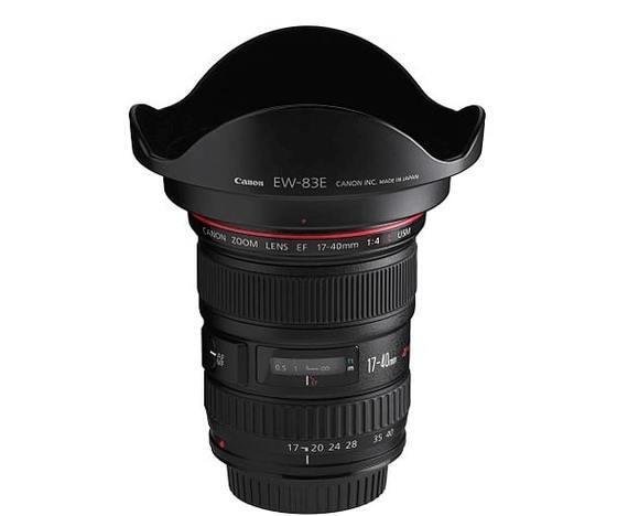 Canon EF 17-40mm f/4 L USM + EW-83E zonnekap