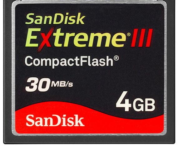 SanDisk CompactFlash Extreme III 4GB (CF-kaart)