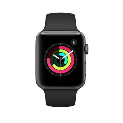 Apple Watch Series 3 42mm Space Gray (Black Sport Band)