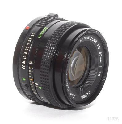 Canon FD 50mm f/1.8 + FD-EOS EF converter