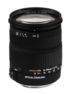 Sigma 18-200mm f/3.5-6.3 DC OS (voor Canon)